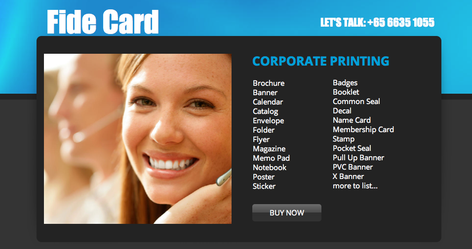 corporate printing, brochure, banner, calendar, catalog, folder, flyer, magazine, memo pad, notebook, poster, sticker