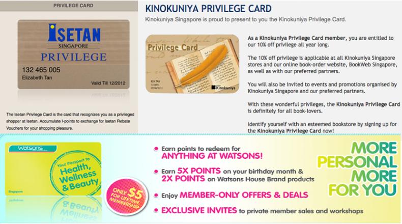 membership card singapore